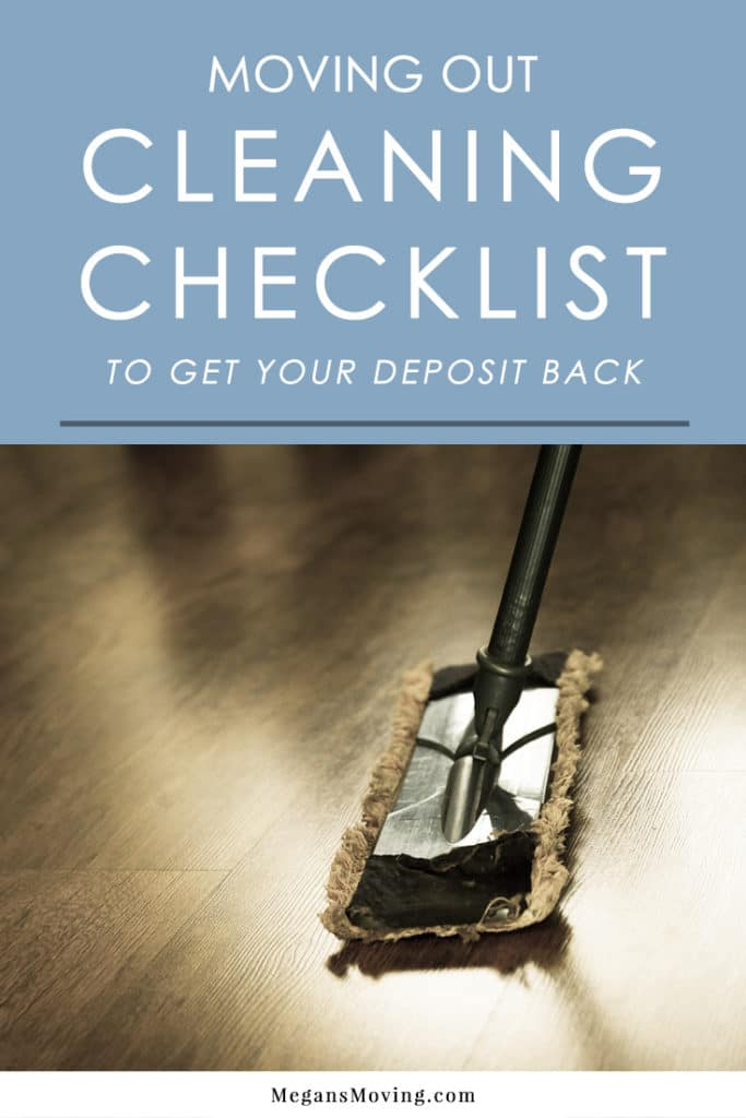 Moving Out Cleaning Checklist