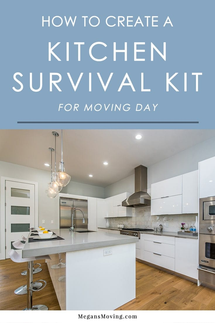 To save yourself a lot of time and stress on moving day, it's essential to pack a kitchen survival kit so you have what you need when you get hungry - without having to dig through a million boxes! Here's what you should pack inside of it.