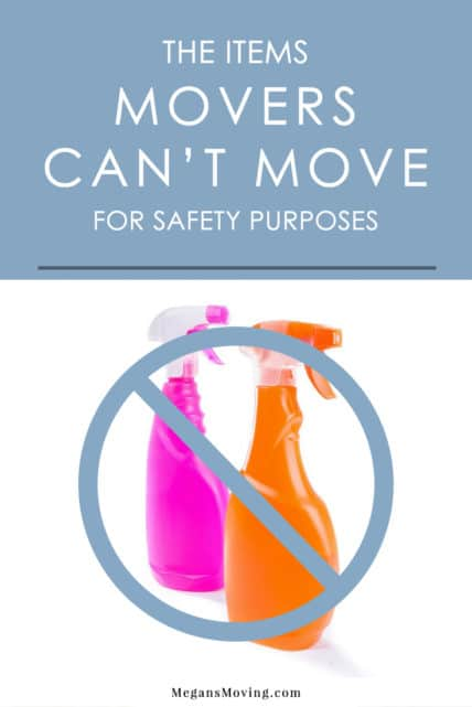 what items cannot be moved by movers