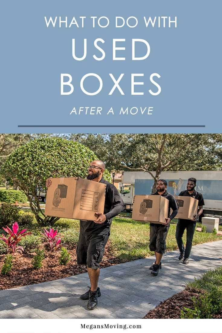 Not sure what to do with all those empty boxes after a move? Here are several ideas that are easy and eco-friendly!