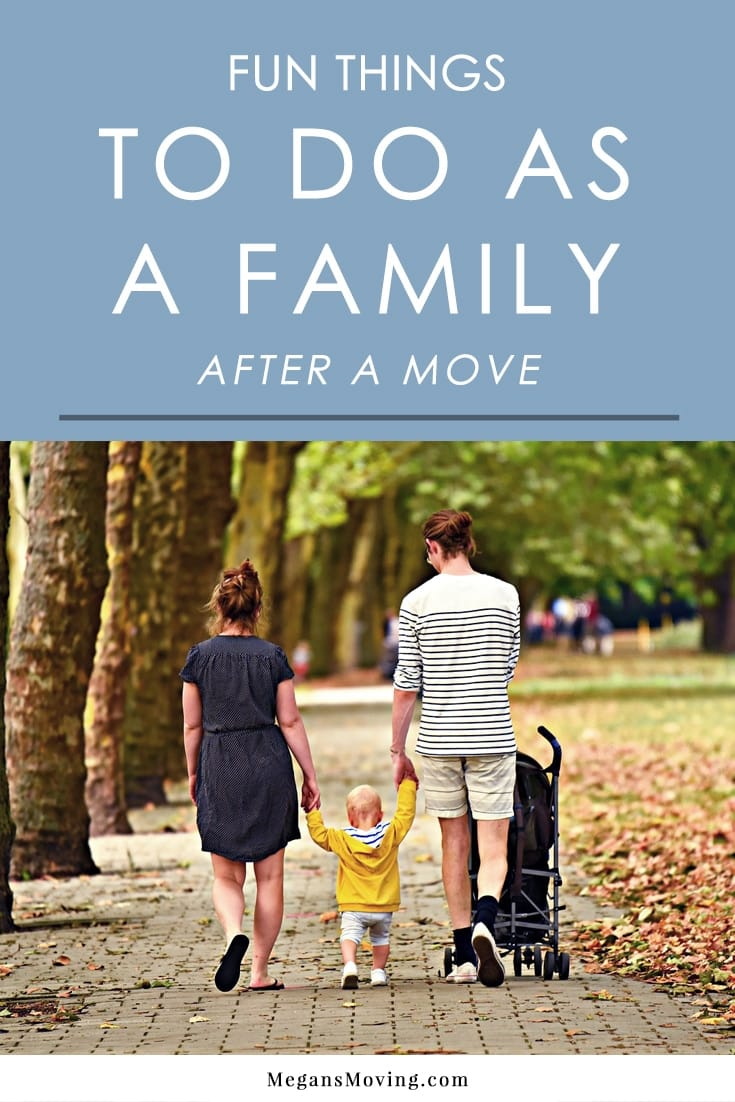 Moving day can be a stressful experience for everyone involved. Before you dive into unpacking and settling in, it's a good idea to take a breather and spend some time as a family doing something completely unrelated to the move.   Here are some great family activity ideas that will help you all reconnect and enjoy some much-needed downtime.