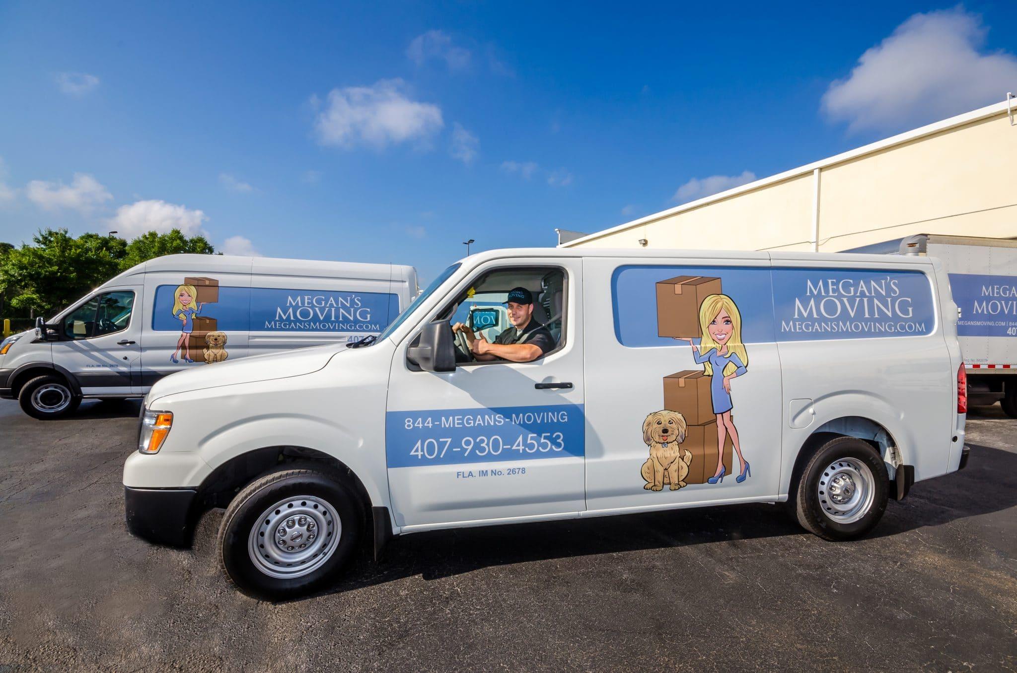 Megan's Moving van