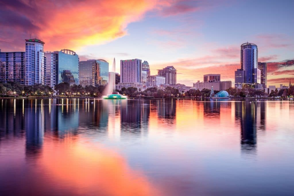 View of Lake Eola and Downtown Orlando