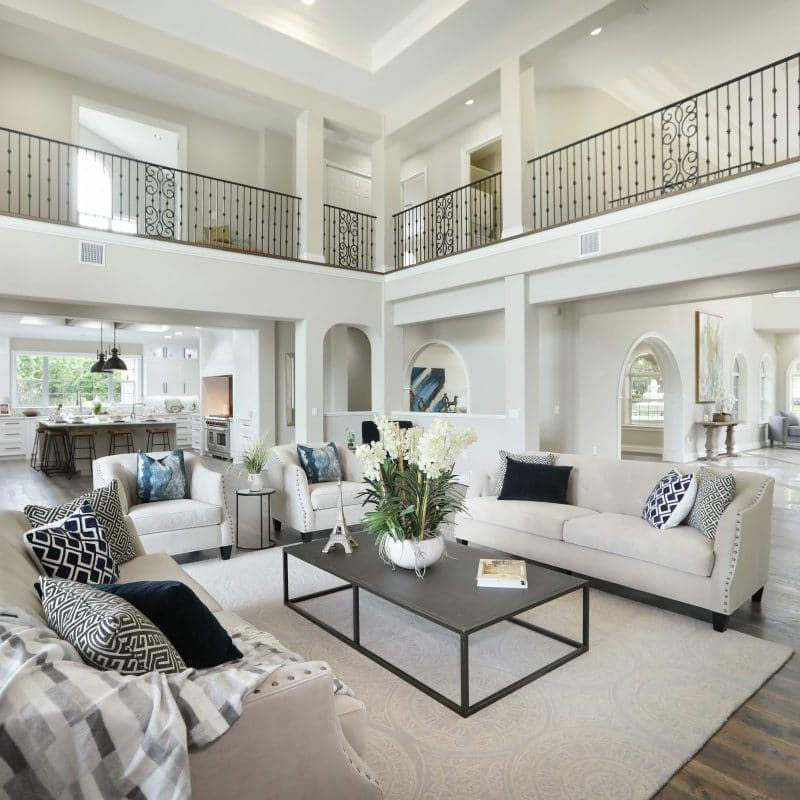 Living room of a luxury home